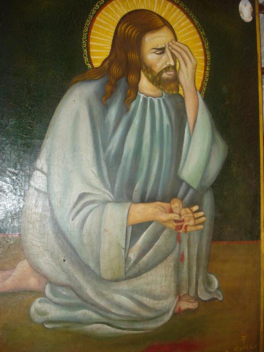 Mantuitorul Iisus Hristos plange